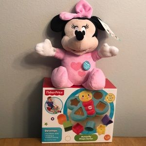Other - Minnie baby and A Fisher Price shape sorter